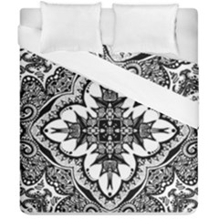Doodlecross By Kirstenstar D70i5s5 Duvet Cover (double Size)