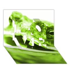 Green Frog LOVE 3D Greeting Card (7x5)