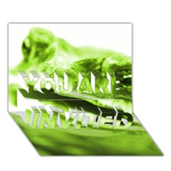 Green Frog YOU ARE INVITED 3D Greeting Card (7x5)