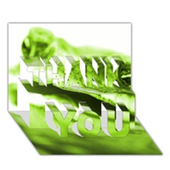 Green Frog Thank You 3d Greeting Card (7x5)
