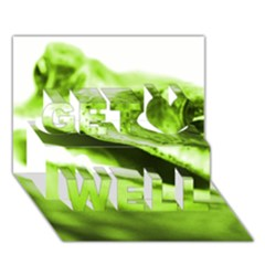 Green Frog Get Well 3d Greeting Card (7x5)