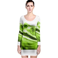 Green Frog Long Sleeve Bodycon Dresses