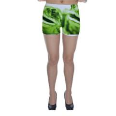 Green Frog Skinny Shorts