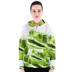 Green Frog Women s Zipper Hoodies