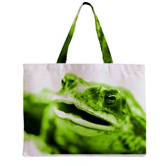 Green Frog Zipper Tiny Tote Bags