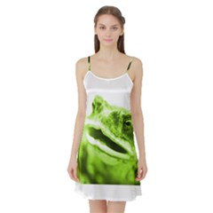 Green Frog Satin Night Slip