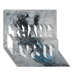 Ghostly Fog THANK YOU 3D Greeting Card (7x5)
