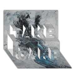 Ghostly Fog TAKE CARE 3D Greeting Card (7x5)