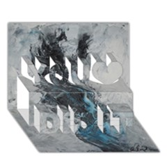 Ghostly Fog You Did It 3d Greeting Card (7x5)