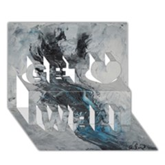Ghostly Fog Get Well 3d Greeting Card (7x5)