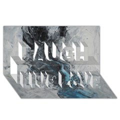 Ghostly Fog Laugh Live Love 3d Greeting Card (8x4)