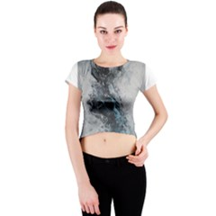 Ghostly Fog Crew Neck Crop Top