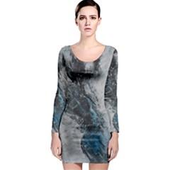 Ghostly Fog Long Sleeve Bodycon Dresses