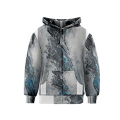 Ghostly Fog Kids Zipper Hoodies