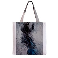 Ghostly Fog Zipper Grocery Tote Bags