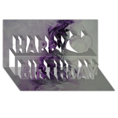 The Power Of Purple Happy Birthday 3D Greeting Card (8x4)