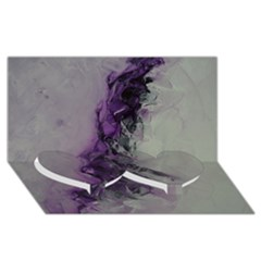 The Power Of Purple Twin Heart Bottom 3d Greeting Card (8x4)