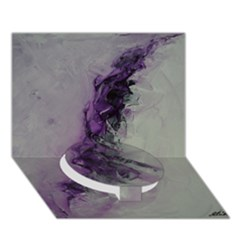 The Power Of Purple Circle Bottom 3d Greeting Card (7x5)