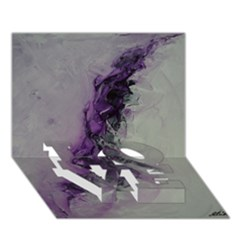 The Power Of Purple LOVE Bottom 3D Greeting Card (7x5)