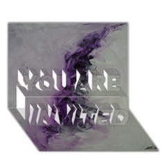 The Power Of Purple You Are Invited 3d Greeting Card (7x5)