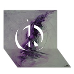 The Power Of Purple Peace Sign 3d Greeting Card (7x5)