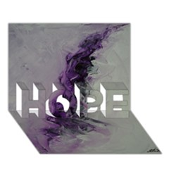 The Power Of Purple HOPE 3D Greeting Card (7x5)