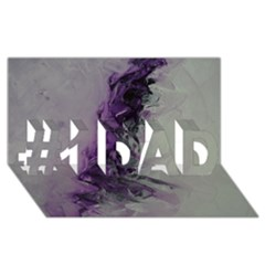 The Power Of Purple #1 Dad 3d Greeting Card (8x4)