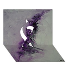The Power Of Purple Ribbon 3D Greeting Card (7x5)