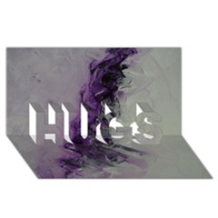 The Power Of Purple Hugs 3d Greeting Card (8x4)