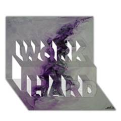 The Power Of Purple WORK HARD 3D Greeting Card (7x5)