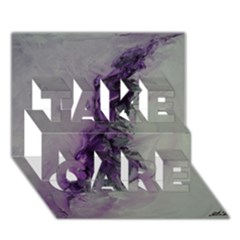 The Power Of Purple Take Care 3d Greeting Card (7x5)