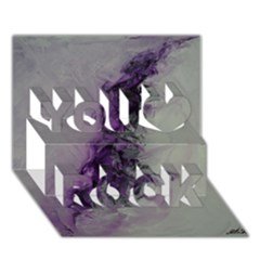 The Power Of Purple You Rock 3d Greeting Card (7x5)