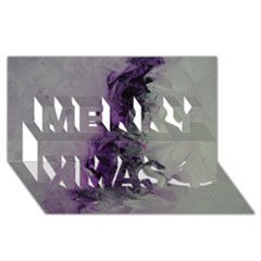 The Power Of Purple Merry Xmas 3D Greeting Card (8x4)