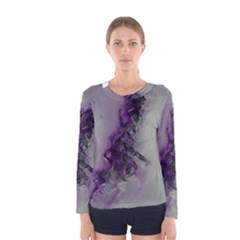 The Power Of Purple Women s Long Sleeve T Shirts