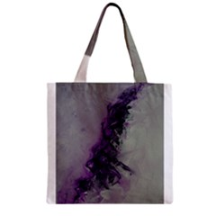 The Power Of Purple Zipper Grocery Tote Bags