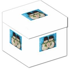Snowman Family Storage Stool 12