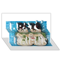 Snowman Family Best Friends 3D Greeting Card (8x4)