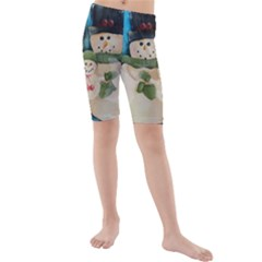 Snowman Family Kid s Swimwear