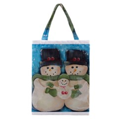 Snowman Family Classic Tote Bags