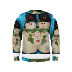 Snowman Family Boys  Sweatshirts