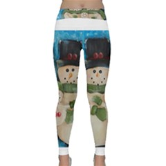 Snowman Family Yoga Leggings