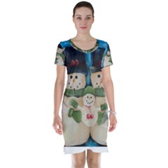 Snowman Family Short Sleeve Nightdresses
