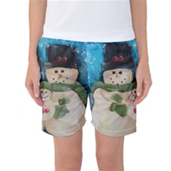 Snowman Family Women s Basketball Shorts