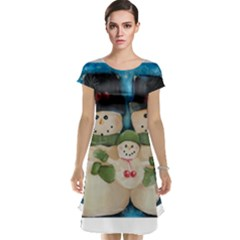 Snowman Family Cap Sleeve Nightdresses