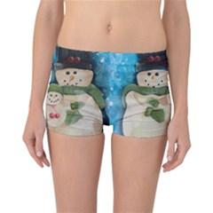 Snowman Family Reversible Boyleg Bikini Bottoms