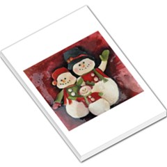 Snowman Family No  2 Large Memo Pads