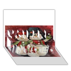 Snowman Family No  2 You Are Invited 3d Greeting Card (7x5)