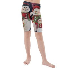Snowman Family No. 2 Kid s swimwear
