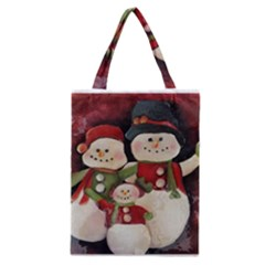 Snowman Family No. 2 Classic Tote Bags