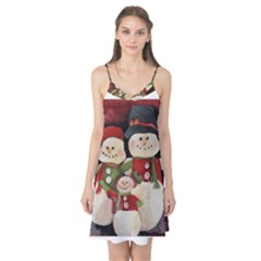 Snowman Family No  2 Camis Nightgown